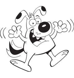 Cartoon dog jumping vector