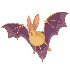 Cartoon happy bat vector image
