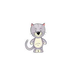 cat cartoon icon vector image
