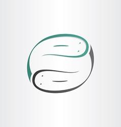 catfish symbol stylized design element vector image