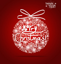 Christmas background with Merry Christmas tree vector image vector image