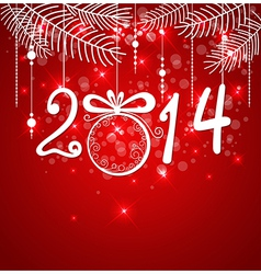 Christmas red background for 2014 year vector image vector image