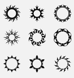 Circle tribal ornaments vector image vector image