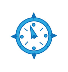 compass object to travel in map direction vector image