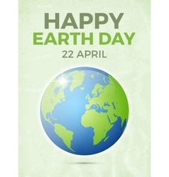 Earth day April 22 vector image