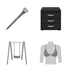 Figure medicine trade and other monochrome icon vector