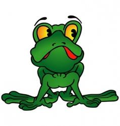 Green frog vector