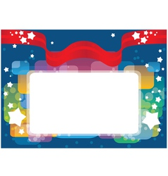 greeting card template background vector image vector image