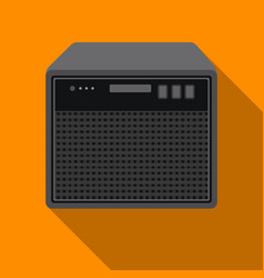 Guitar amplifier icon in flat style isolated on vector