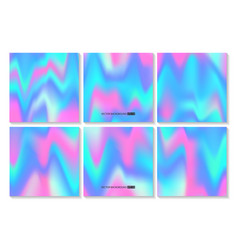 hologram bright colorful backgrounds set vector image vector image