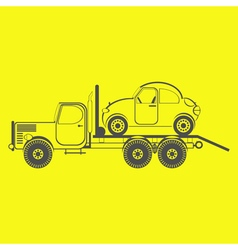 monochrome icon with special purpose vehicle vector image