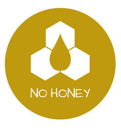 no honey label food intolerance symbols vector image