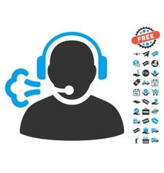 Operator Speech Icon With Free Bonus vector image vector image