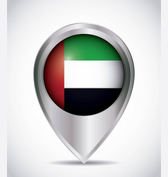 Pointer with the national flag of united arab vector