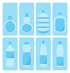 set of water bottle vector image vector image
