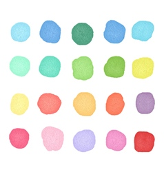 Set watercolor dos Colorful watercolor blobs Round vector image vector image