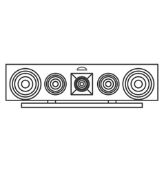 stereo system icon vector image vector image