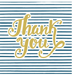 thank you poster handwritten lettering vector image