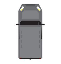top view of a van vector image