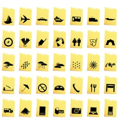 Transportation set of different web icons vector image vector image
