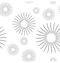 Vintage Linear Sunburst Seamless Pattern vector image vector image