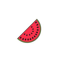 watermelon solid line icon healthy fruit vector image