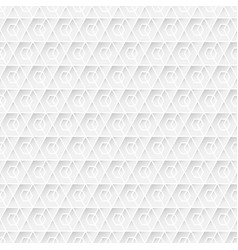 white geometric seamless background pattern vector image vector image