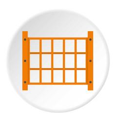 Yard fence icon circle vector