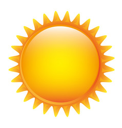Yellow sticker sun icon vector