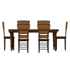 Dining room table vector image