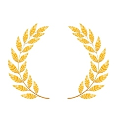 Gold laurel  shine wreath award design vector