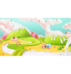 Sweet landscape background vector