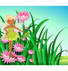A fairy at the garden vector