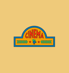 Movie sign in flat style vector