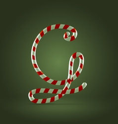 Candy cane abc g vector