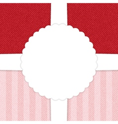 Jeans red and light pink greeting card vector