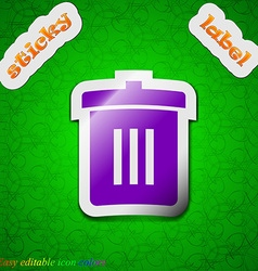 Recycle bin reuse or reduce icon sign symbol chic vector