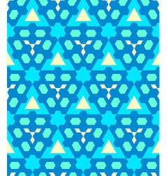 Blue cyan yellow color abstract geometric seamless vector