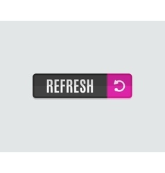 Refresh web button flat modern design vector