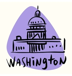 Washington capital usa vector