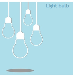 Hanging light bulb vector