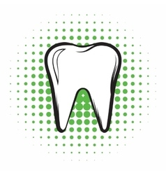 Tooth comics icon vector