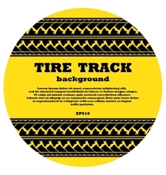 Tire track in yellow circle with text vector