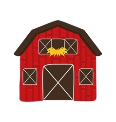 Building icon farm concept graphic vector