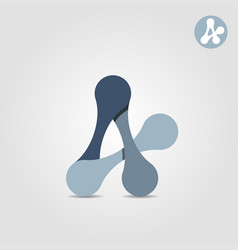 a letter abstract shape connection concept vector image