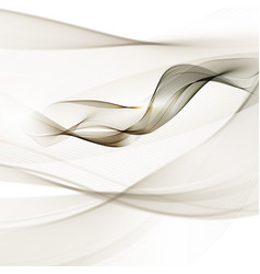 abstract smooth gray wave curve flow grey vector image vector image