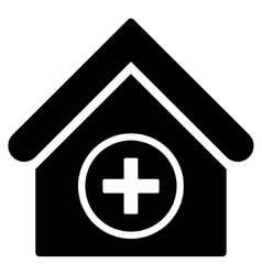 Add building flat icon vector