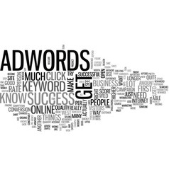 Adwords success no longer open like the wild west vector