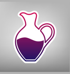 Amphora sign purple gradient icon on vector