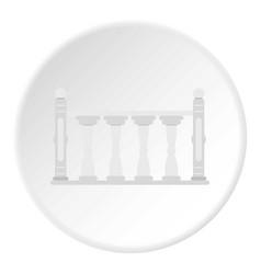 Balustrade icon circle vector